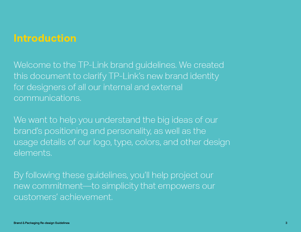 TP-Link style guide introduction