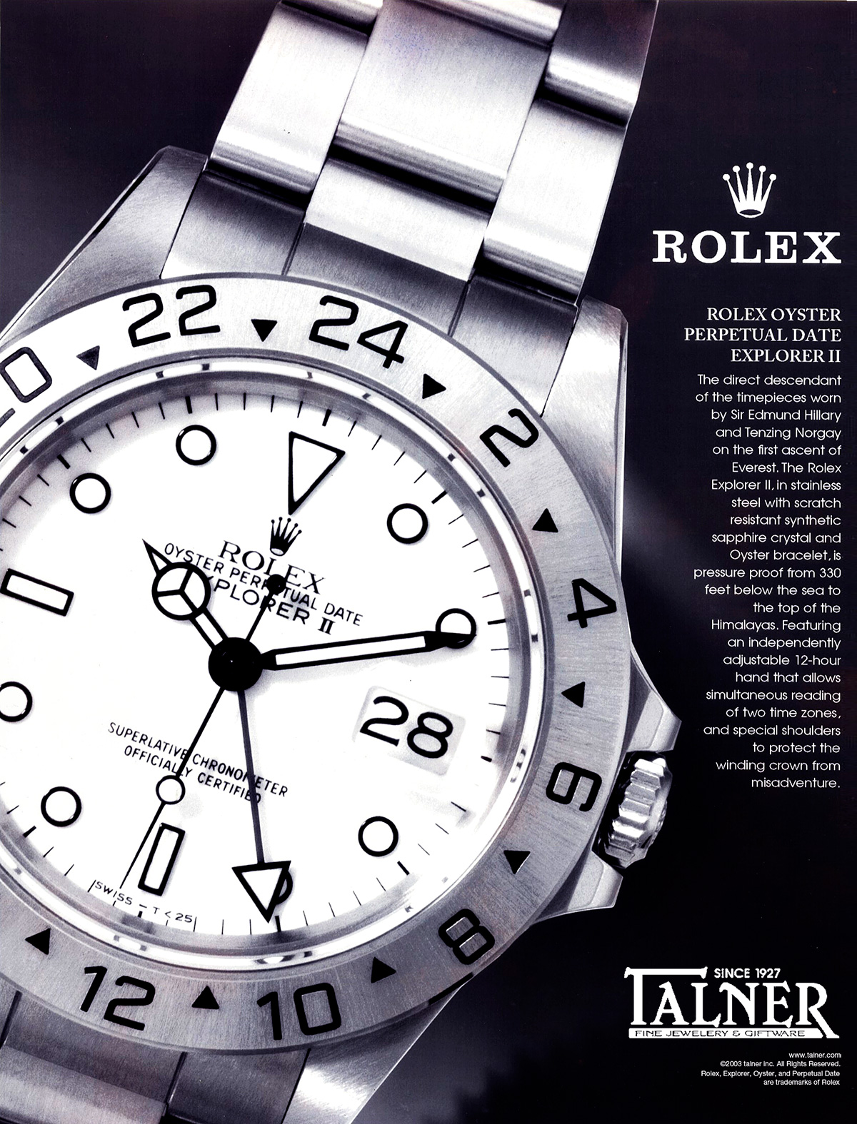 Rolex print ad
