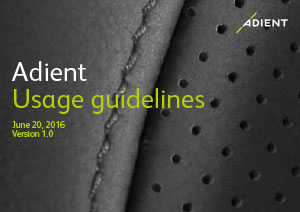 Adient Usage Guidelines Cover