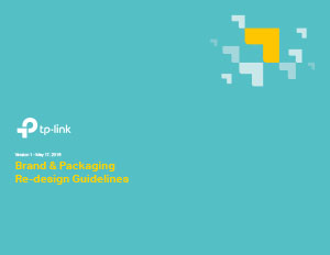 TP Link Brand & Packaging Redesign Guidelines Cover
