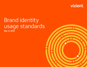 Vizient Brand Identity Usage Standards Cover